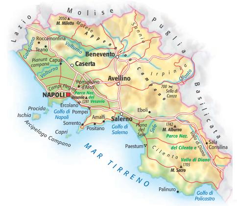 Cartina Fiumi Campania.Campania Maestro Matteo